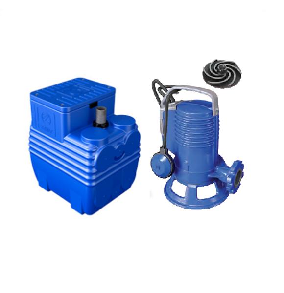 Picture of ELETTROPOMPA TRITURATRICE KW 0,74 GR BLUEPRO 100 VOLT 220 CON VASCA BLUEBOX 150 LITRI ZENIT