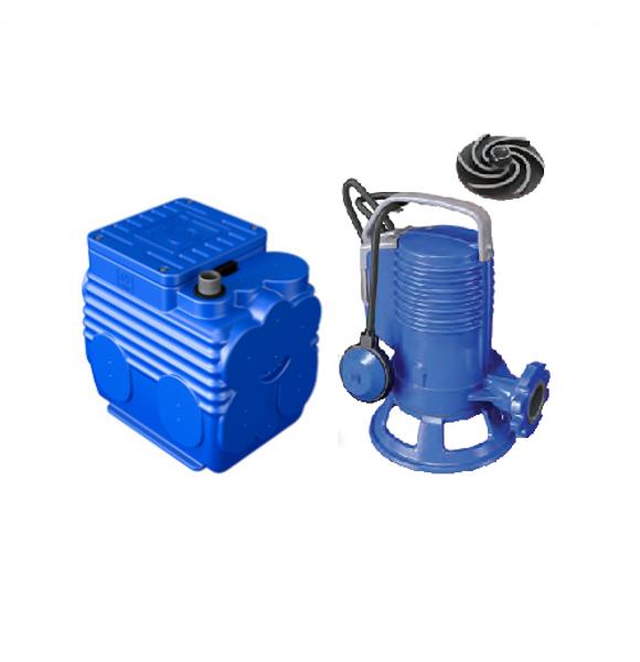 Picture of ELETTROPOMPA TRITURATRICE KW 0,74 GR BLUEPRO 100 VOLT 220 CON VASCA BLUEBOX 60 LITRI ZENIT
