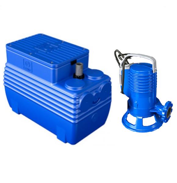 Picture of ELETTROPOMPA TRITURATRICE KW 1,1 GR BLUEPRO 150 VOLT 220 CON VASCA BLUEBOX 250 LITRI ZENIT